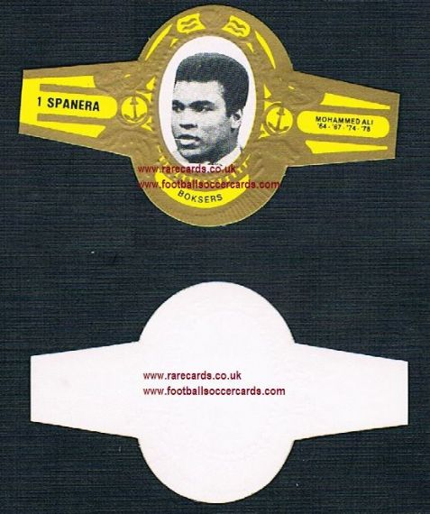 1978 Spanera boksers Dutch cigar band Muhammad Ali Cassius Clay boxer